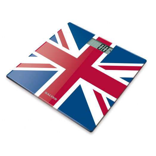 Bilancia da bagno Ultra-Slim in vetro temperato - Union Jack